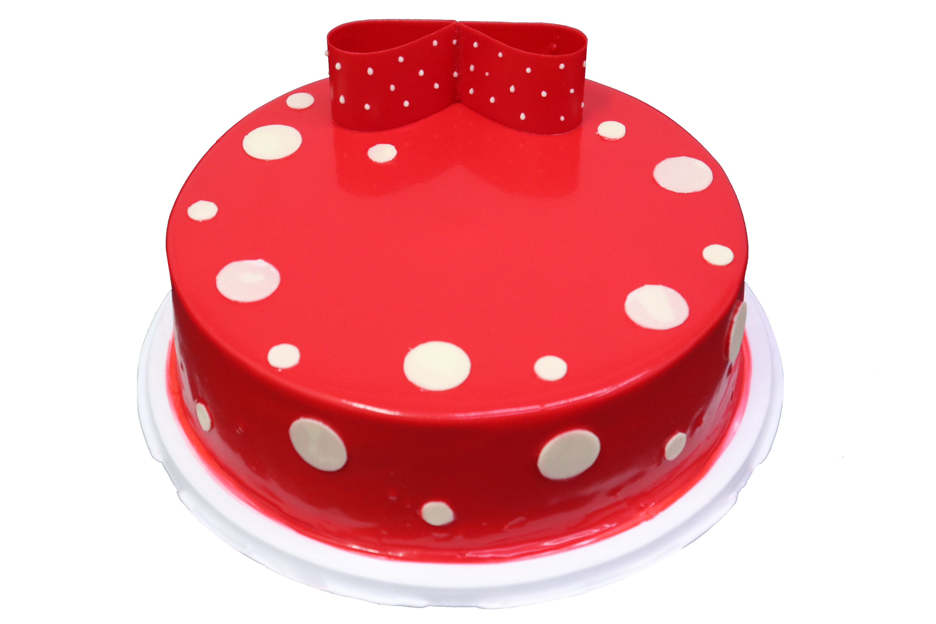 Red Bow Tie Cake