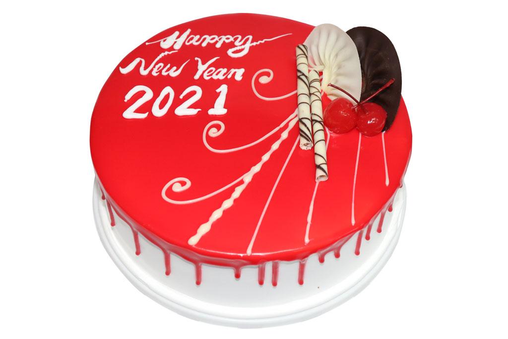 Happy New Year Vanilla Cake