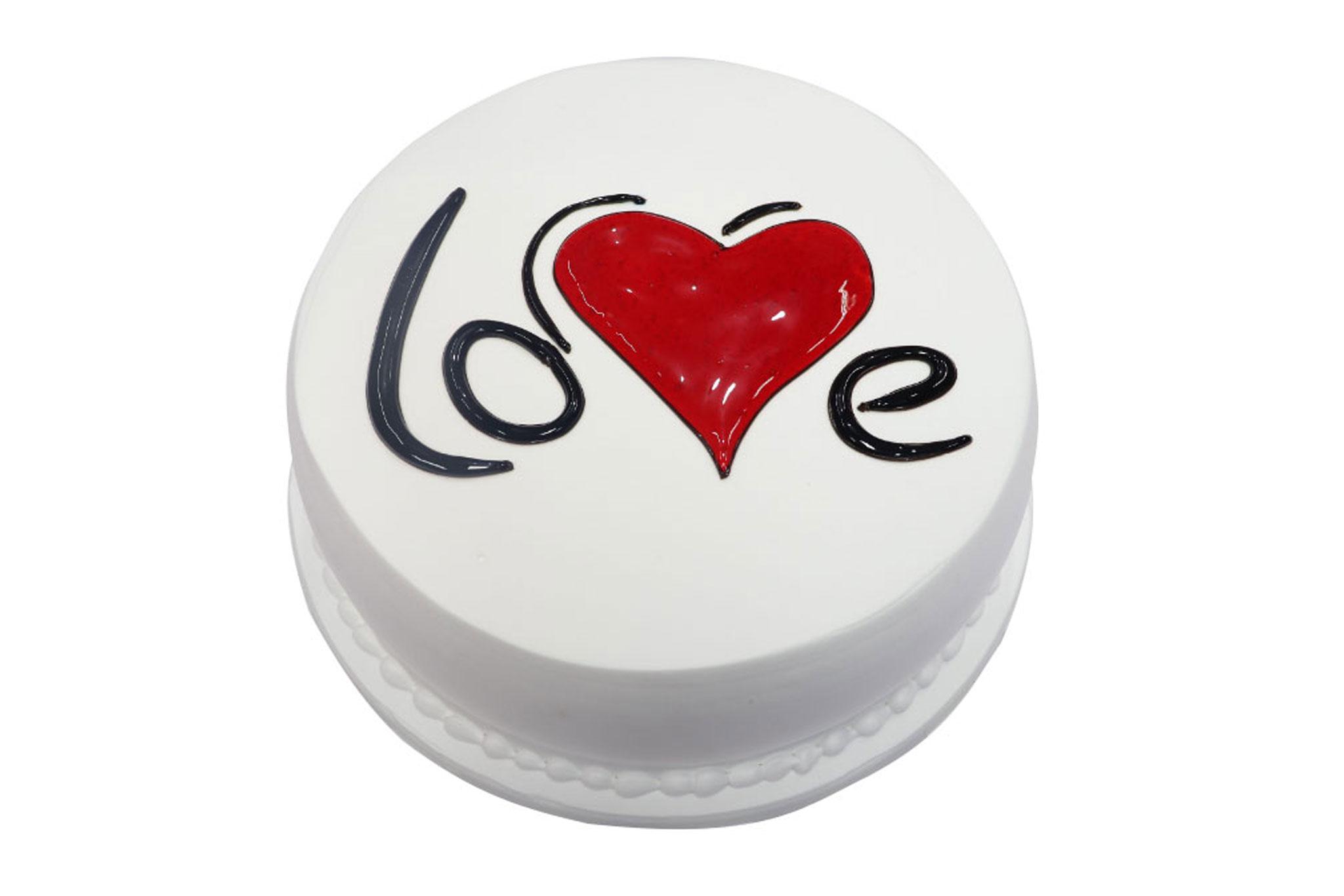 Valentine Special Vanilla Cake 01